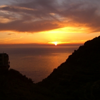 Sunset on Cinque Terre