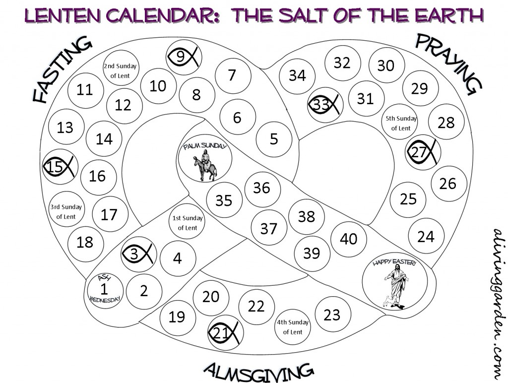 Printable Lenten Calendars For Children