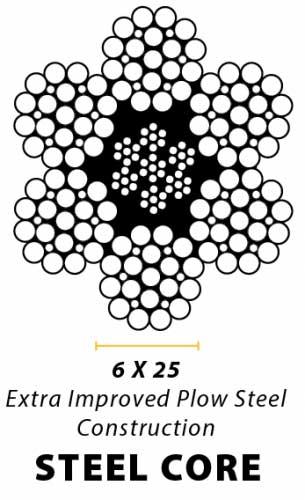 7/16 x 75 Steel Core Self Locking Hook