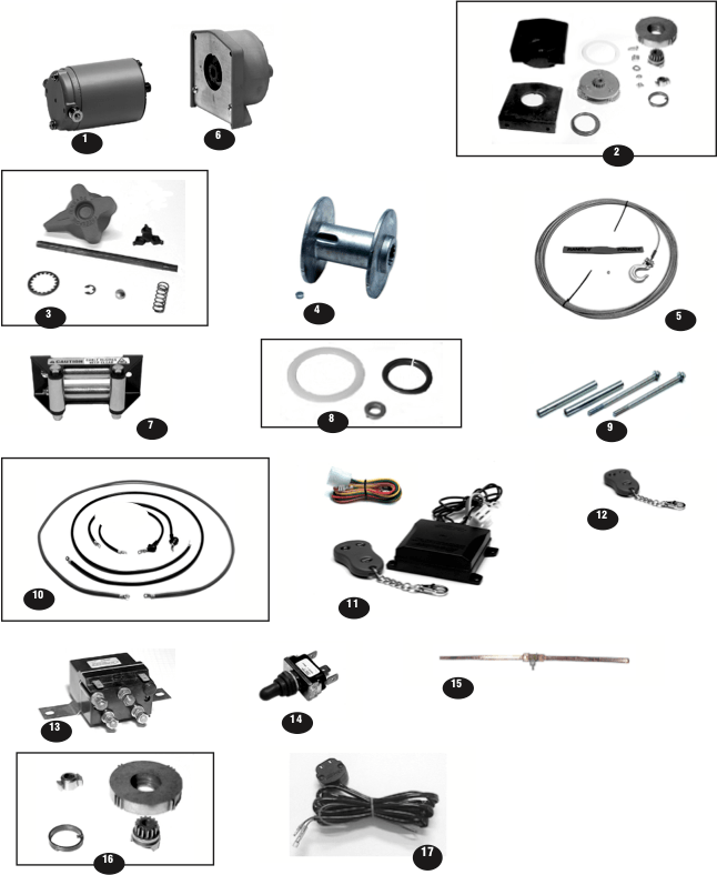 Ramsey Winch ATV 2500 Parts