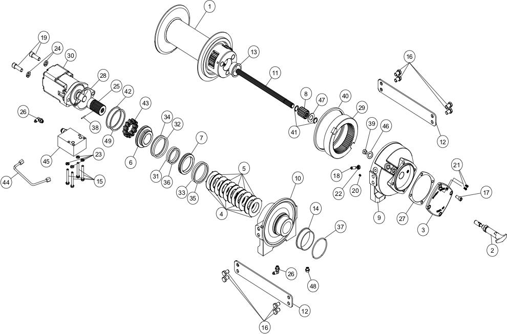 Ramsey Winch HDP 10000 Parts