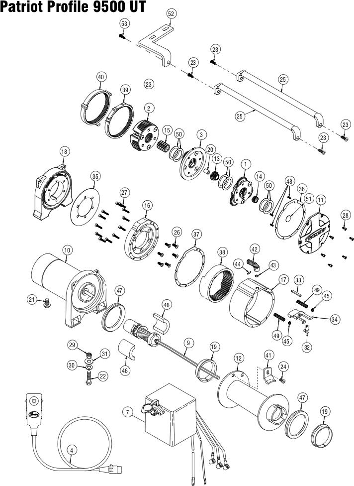 Ramsey Winch Patriot Profile 9500 UT Parts