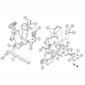 FISHER MOUNT KIT MINUTEMOUNT FORD F250SD-550S