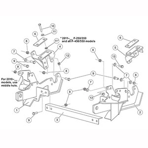 FISHER MOUNT KIT MINUTEMOUNT FORD SD 7183-1