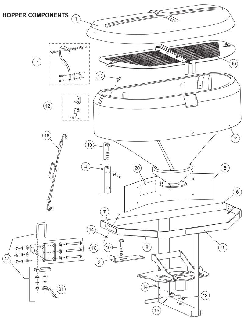 Fisher Model 2500 Hopper Parts