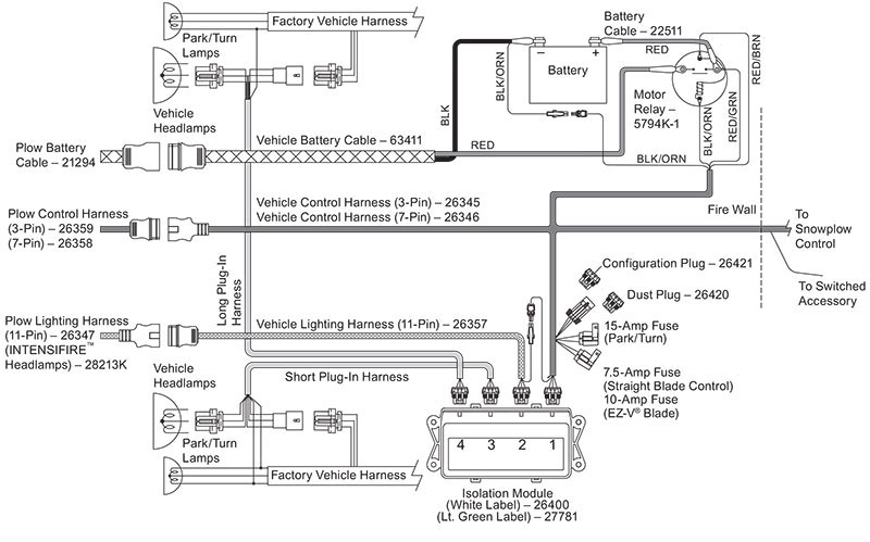 Western Plow Control Wiring Diagram Side Hydraulics