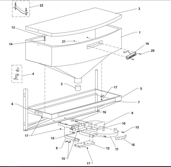 western 1000 salt spreader wiring diagram for dimmer switch uk fisher & spinner guard p2023