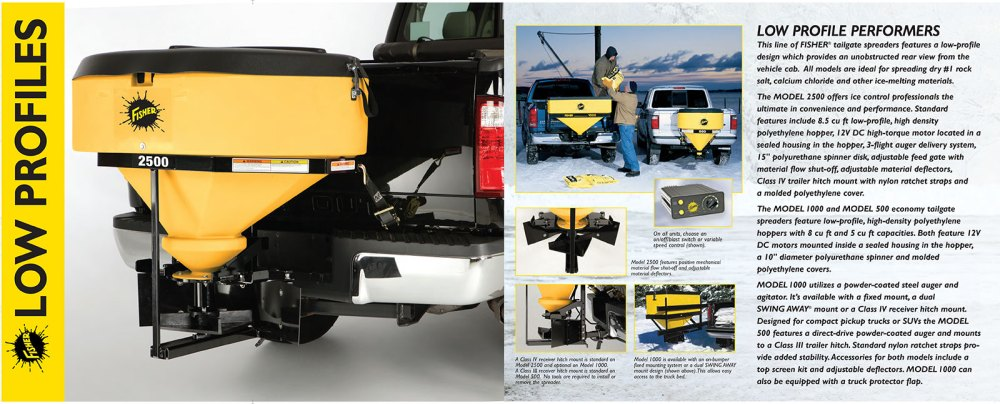 medium resolution of fisher low profile tailgate salt spreader information