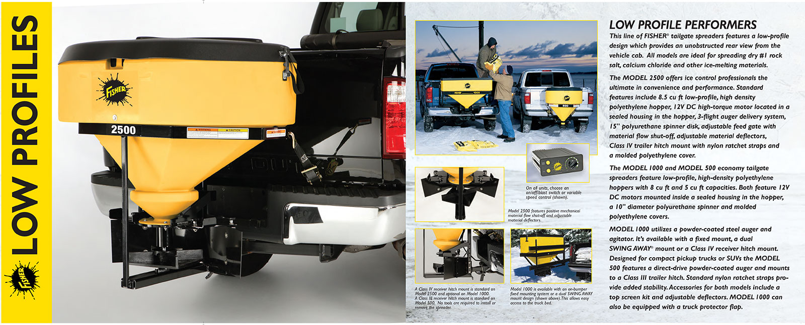 hight resolution of fisher low profile tailgate salt spreader information