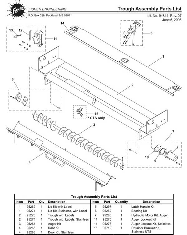 Fisher Under Tailgate Trough Parts