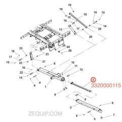 Fisher Snow Plow Diagram 2005 Kenworth T800 Ac Wiring 1001166858 Jerr-dan Cylinder Assembly 2.50/1.50 X 56.6
