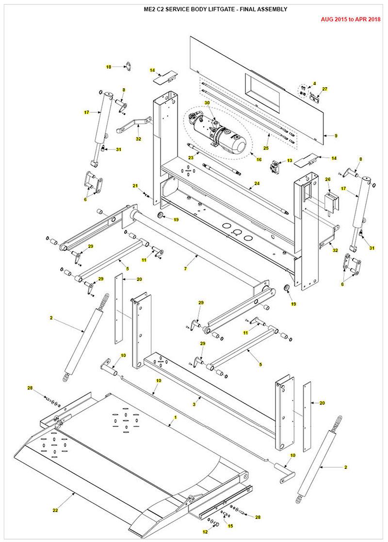 medium resolution of me2 service body liftgate parts diagram