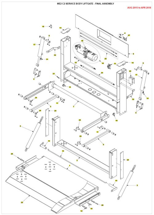 small resolution of me2 service body liftgate parts diagram
