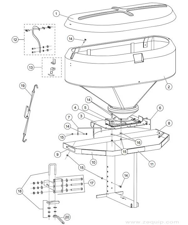 Western Spreader Parts Hopper Deflecer Image collections
