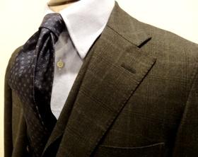 チェック柄スーツ