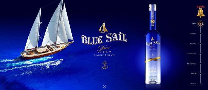 Лендинг Blue Sail Vodka