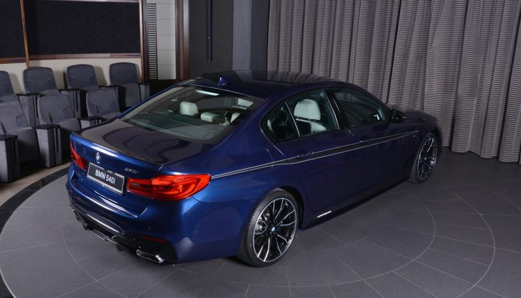 Mediterranean Blue Bmw 540i Loaded With M Performance Bits