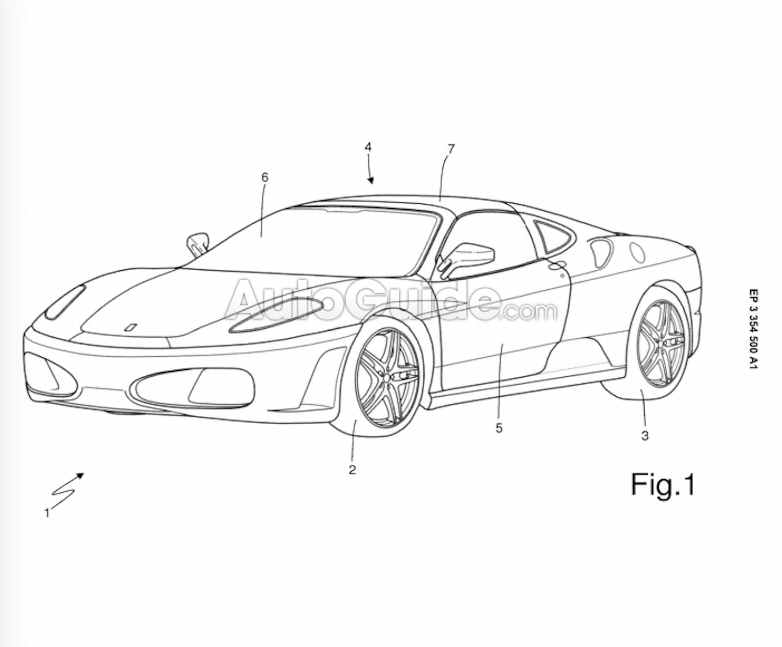 Ferrari Patents New Targa Top For First Time In Two Decades