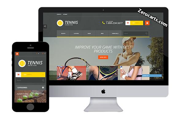 Tennis store free prestashop theme
