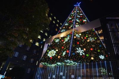 冬のクリスマスイルミネーション