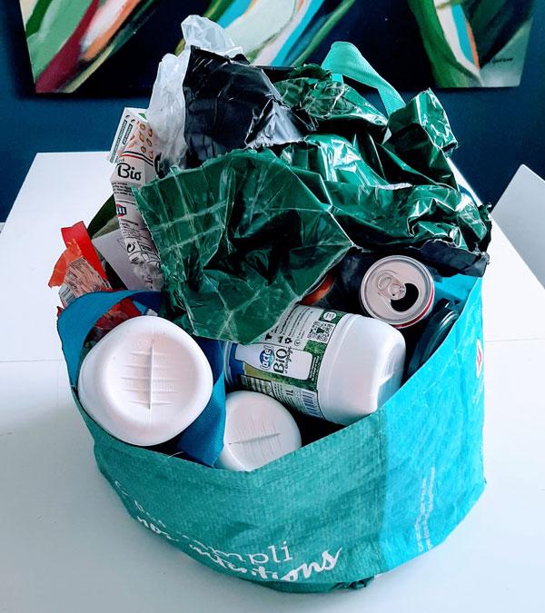 Autopsie de poubelle recyclable jaune objectif zéro déchet