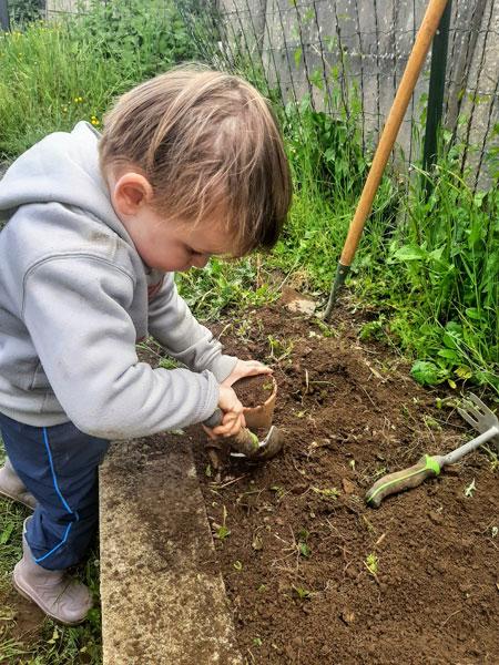 Planter des légumes zéro déchet avec ses enfants