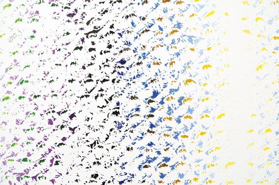 Cheyney Thompson Chronochrome set 4, 2010. Huile sur toile, 190.5 x 253 cm. Courtesy Sutton Lane, London / Paris. Photo Isabelle Arthuis.