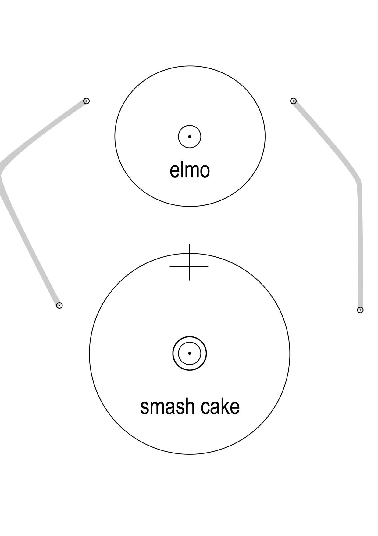 How I Made An Elmo Cake Part 1