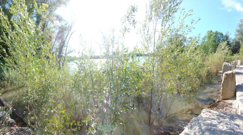 Lago campo golf lungo il fiume Ronco