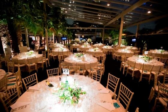 Decoraçãop das mesa do baile da anfAR 2015