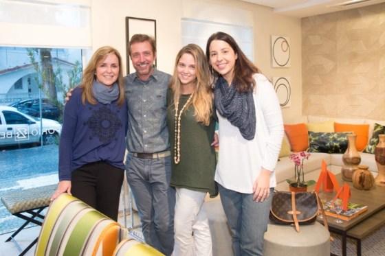 Eliane Couto, Luiz Fernando Grabowsky  Patricia Couto e Juliana Tiziani
