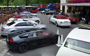 London Exotic Car Sightings on Google Maps Street View