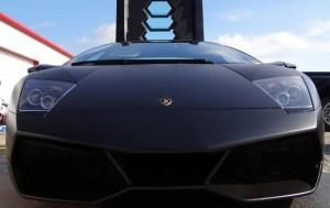 Black Lamborghini Murcielago SV