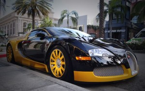 Custom Yellow & Black Bugatti Veyron Spotted in Beverly Hills