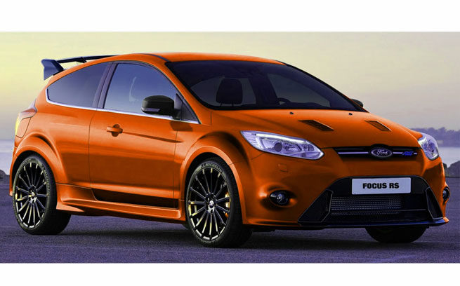 Orange Ford Focus RS