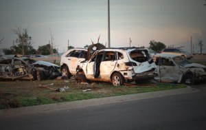 EF5 Tornado Damaged Cars in Oklahoma