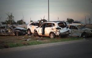 EF5 Tornado Damaged Cars in Oklahoma