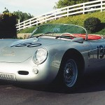Replica of James Dean's Porsche 550 Spyder