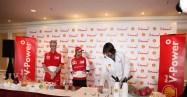 Cocktail Masterclass with Scuderia Ferrari F1 Driver Felipe Massa - 06 (L-R) Ian Albiston, Felipe Massa and Dan Hope