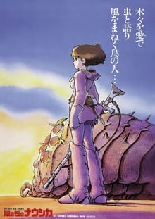 Animated movie poster of Nausicaa of the Valley of the Wind