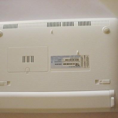 La posizione dell'etichetta sull'Asus eeePc