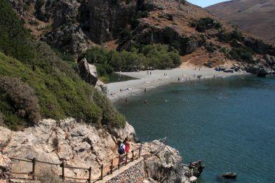 La spiaggia di Preveli