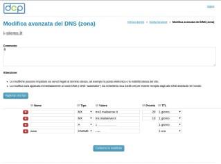 Gestione zone DNS