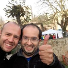Con Luca Giglioni, uno degli organizzatori della gara.