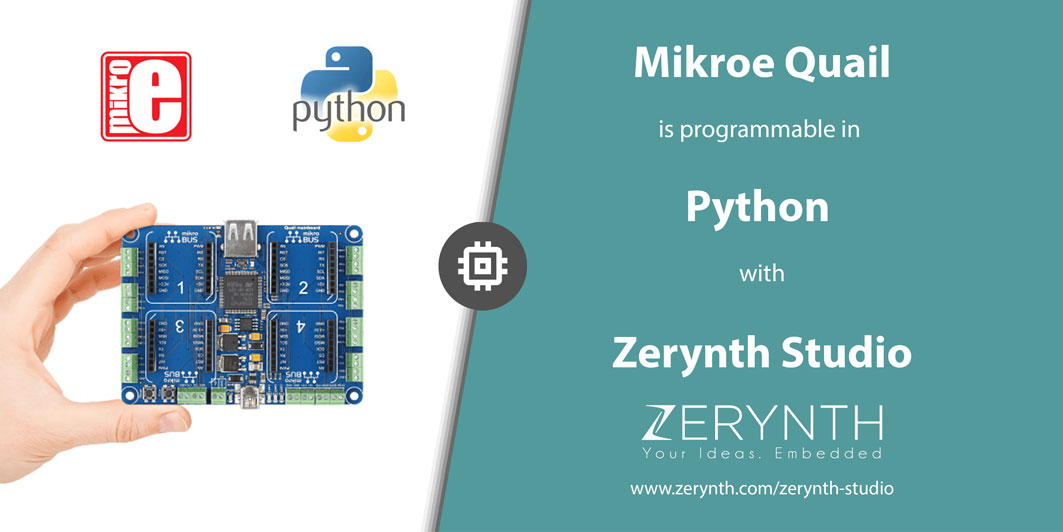 Program Mikroe Quail Board in Python with Zerynth!