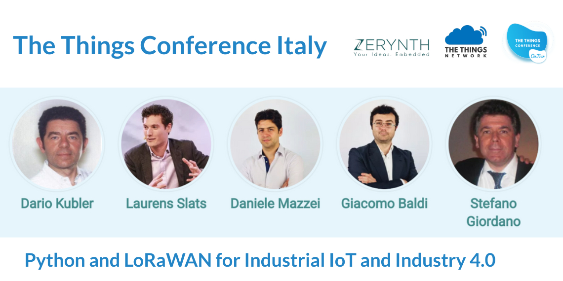 "Speakers of ""The Things Conference Italy"" – learn about LoRaWAN and Python for Industrial IoT"