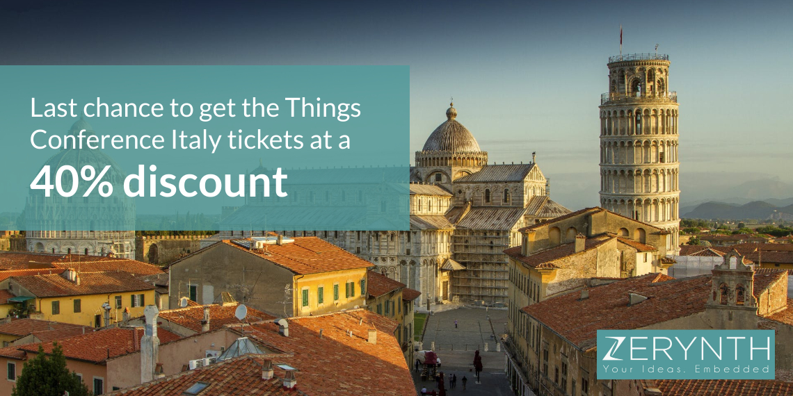 Last chance to get the Things Conference Italy tickets at a 40% discount