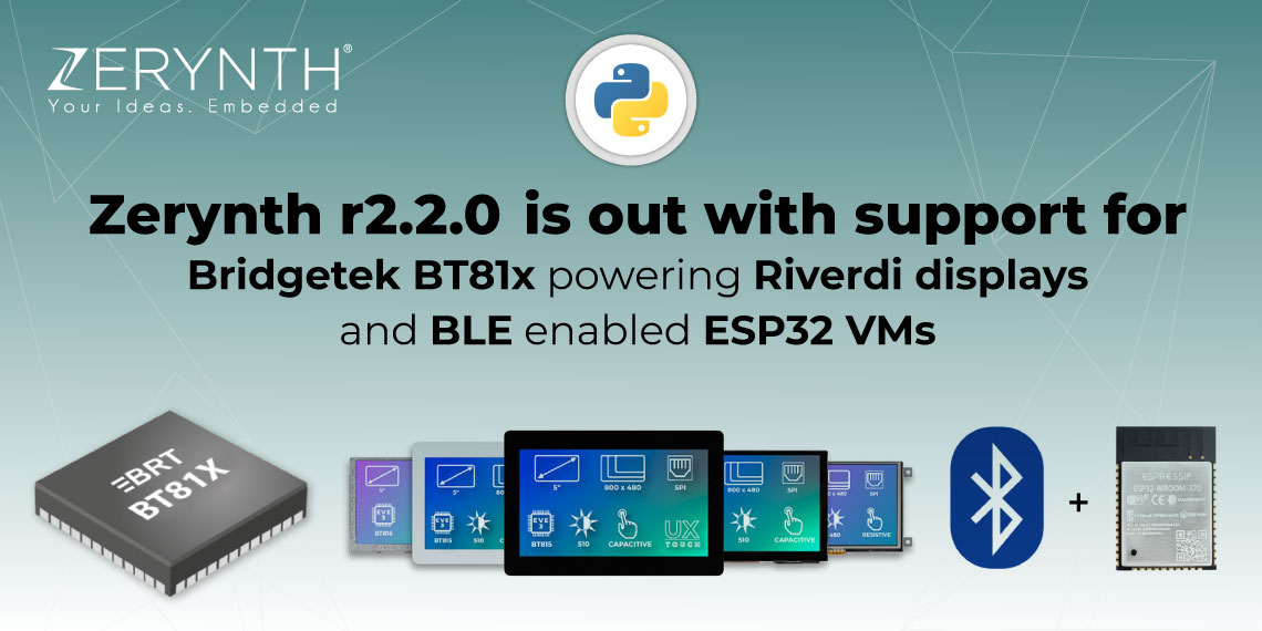 Zerynth r2.2.0 is out with support for Bridgetek BT81x powering Riverdi displays, and BLE enabled ESP32 VMs