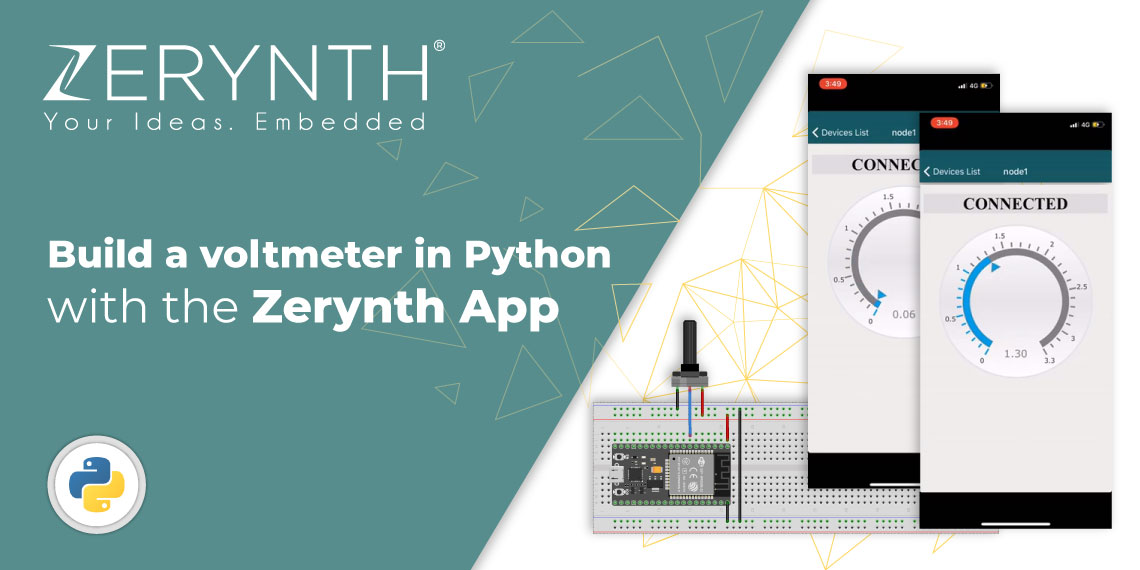 built a voltmeter with the zerynth app