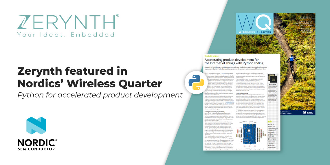 Nordic features Zerynth in the Wireless Qaurter